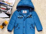 2014巴布豆 小童90-120新款卡通休闲保暖加厚带帽儿童羽绒