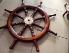 船舵掛墻裝飾復古壁掛房間餐廳墻上裝飾品實木船舵方向盤領航舵