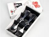 批发婚庆回礼创意礼品 赠品批发 不锈钢餐具 生日礼物 心形叉勺