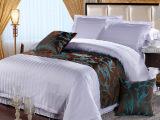 产地货源  100%纯棉宾馆床上用品四件套   纯白无印染酒店布