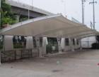 深圳专业安装膜结构车棚,耐力板雨棚,户外钢结构停车棚