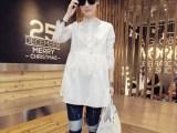 2015欧洲站春季新女装立领长袖纯色网纱蕾丝拼接连衣裙
