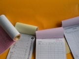 专业防伪票据 不干胶印刷 防伪标贴 无碳复写单据