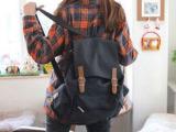 韩版时尚复古潮大包女包双肩包学生背包批发免费代理加盟b083