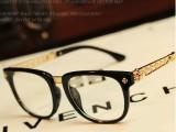 2014时尚大牌克罗心眼镜框女款复古潮人大框平光镜可配近视眼镜男