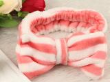 韩版超可爱蝴蝶结洗脸束发带发包 化妆发箍面膜包头巾发带发束