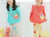 一件代发 2015春季韩版新款品牌童装中小童原创卡通印花童套装