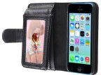 iPhone5C钱包款手机壳套 苹果5手机保护套配件批发生产厂家