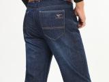 供应批发2014秋冬厚款男装品牌牛仔裤直筒高腰型中年男裤一件起批