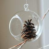 悬挂玻璃花瓶微景观多肉植物花瓶简约透明圆形吊瓶婚庆用品