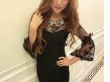 韩日系夜店性感女装 纱网蕾丝露肩假两件连衣裙 洋装小礼服短裙