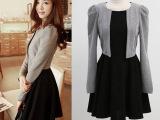 早秋新款套装长袖淑女甜美秋装连衣裙短裙两件套时尚韩版女装9102