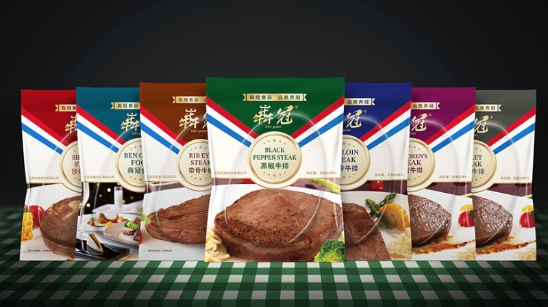 犇冠食品牛排包装策划设计 舍可策划案例 强势符号打造强势品牌