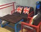 销售餐厅实木休闲桌椅 咖啡店酒吧复古吧台吧椅 厂家定做