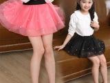 女童半身裙夏童装欧根纱短裙 儿童蓬蓬纱裙宝宝百搭珍珠蛋糕裙