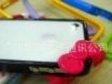 新款 Iphone4G/4s 蝴蝶结 塑料边框 十色 彩色 冰激