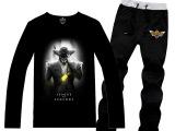 秋季新款男士英雄联盟LOL套装时尚个性印花男士T恤衫休闲运动长裤