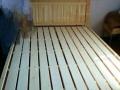 全新实木床蒙布床