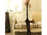 2014新款冬装时尚韩版大毛领修身外套中长款羽绒棉服女 棉衣