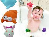 婴儿沐浴玩具批发 动物沐浴公仔  发声 喷水洗澡玩具 戏水玩具