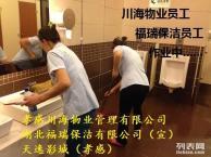 川海物业公司专业承接单位保洁,外墙玻璃清洗,园林绿化养护