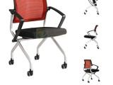网面带轮移动会议椅高档培训椅办公椅厂家简约学生椅折叠椅批发