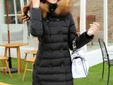 中长款女式棉衣 2014新款女装修身连帽加厚保暖羽绒棉服外套女