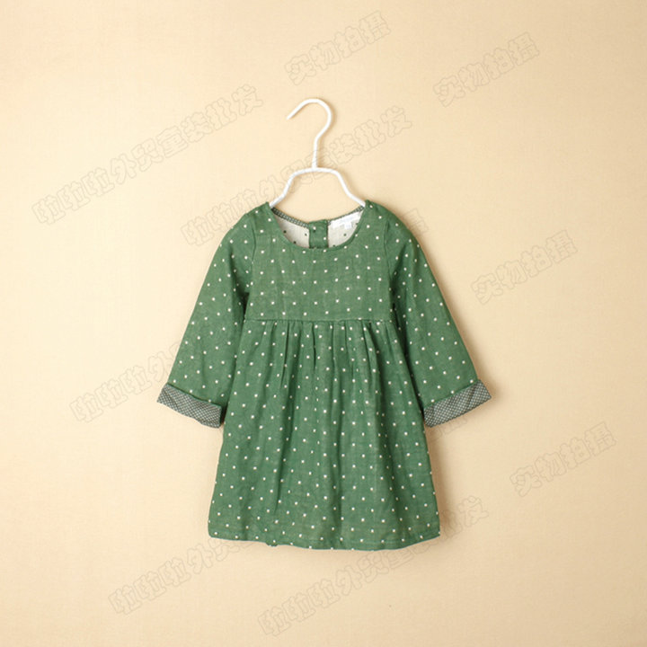 三色入 外贸女童波点双层纱裙衫 R2305