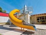 商场办公室不锈钢滑梯 户外螺旋滑梯 亲子餐厅滑梯公园非标滑梯