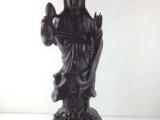 仙游木雕摆件莲花观音像红木工艺品黑檀乌木
