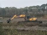 乌兰察布商都水上清於挖掘机出租公司
