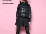 新款冬季女装 欧洲站高端品牌羽绒服 修身短款休闲棉服糖果色外套