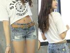 2015新款韩版修身显瘦提臀性感牛仔短裤热裤女