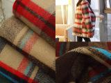厂家批发格子毛呢面料 粗纺色织毛料 秋冬大衣服装面料  多色