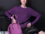 外贸真皮品牌女包 欧美潮流大牌十字纹贝壳包牛皮单肩斜跨l两用包