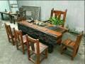 厂家直销老船木海船龙骨大茶台中式复古功夫泡茶桌椅