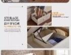 全新1.5米高箱储物床,有两个床头柜和席梦思床垫
