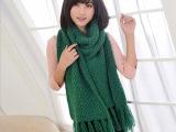 秋冬韩国女式新款长流苏围巾 超柔软仿羊绒围巾  厂家围巾批发