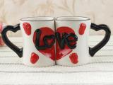 创意陶瓷情侣卡通对杯亲嘴表情结婚礼物礼品杯子批发家居装饰品