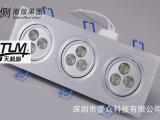 两头LED天花灯|3头LED射灯|长方形LED天花灯