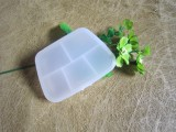 创意新款便携式5格小药盒 塑料五格半透明药盒保健盒收纳盒首饰盒