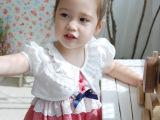 014夏装新款儿童宝宝女童装纯棉镂空短袖短款小外套披肩坎肩开衫