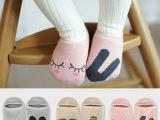 韩国不对称地板袜全棉卡通男女童船袜宝宝婴