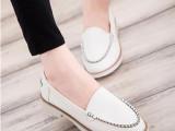 欧洲站2014新款软皮平底休闲单鞋女低跟软底豆豆鞋欧美大牌女鞋