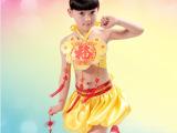幼儿儿童舞蹈演出服装女童民族喜庆表演服中国风肚兜灯笼套装批发