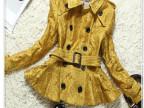 欧美高端品牌服装 厂家直批 欧美B家英伦风衣 米兰外贸风衣大衣