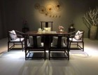 福州新中式黑檀善心茶桌6件套设计新颖简单大方木质稳定工艺精湛