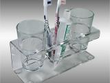 亚克力牙刷架 亚克力杯架 亚克力洗漱用品 有机玻璃牙刷架