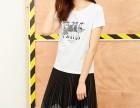 韩版圆领夏装新款百搭印花胖mm大码女装体恤衫
