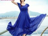 纽曼之城 新款女装大码波西米亚喜庆红色雪纺连衣裙春夏长裙女